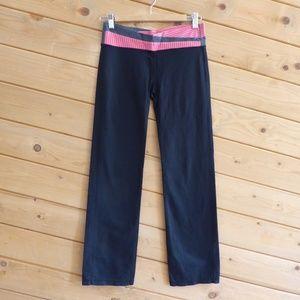 Lululemon ASTRO Pink Gray Waistband Gym Pants
